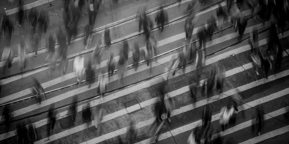 Photo credit: Mike Chai, Pexels License https://www.pexels.com/photo/time-lapse-photography-of-people-walking-on-pedestrian-lane-842339